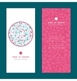 abstract colorful drops vertical round vector image vector image