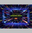 abstract landing page design vector image vector image