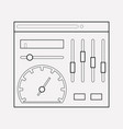 admin panel icon line element vector image vector image