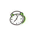 alarm clock icon isolated on white vector image
