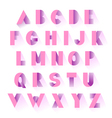 alphabet pink paper vector image vector image