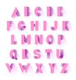 alphabet pink paper vector image