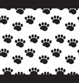 Animal tracks seamless pattern dog paws traces