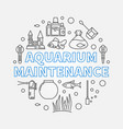 aquarium maintenance round outline vector image