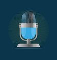 audio microphone on a yellow background vector image