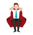 avatar man and red seat graphic vector image