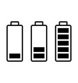 battery load charge status symbols set vector image vector image