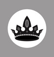 black and white crown with rubies design vector image