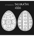 Black white decorative eggs Set of stickers on vector image vector image