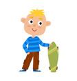 boy on skateboard in vector image vector image