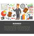 business and office supplies businessman in suit vector image vector image