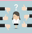 businesswoman get feedback from other people vector image