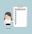 businesswoman show a business plan vector image vector image