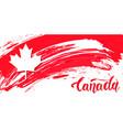 canada day design card vector image vector image