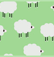 cartoon sheep green cute pattern vector image