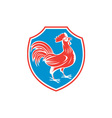 Chicken Rooster Side Shield Woodcut vector image vector image