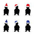 children with new year hat color vector image vector image