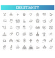 christianity symbols vector image