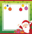 christmas frame cute design collection vector image