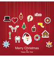 Christmas sticker icon hanging vector image vector image