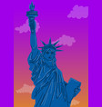 close up statue liberty new york city vector image vector image
