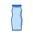 corsage dress line icon vector image