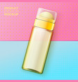 cosmetic deodorant bottle on bright paper vector image