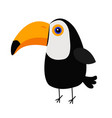 cute toucan toco big yellow beak icon beautiful vector image
