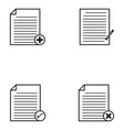 document icons set vector image