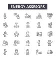 energy assesors line icons signs set vector image