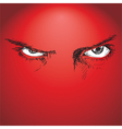 evil eyes vector image