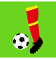 foot football and soccer ball vector image vector image