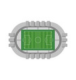 football stadium aerial view on white background vector image