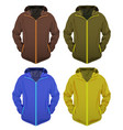 four jackets set vector image vector image