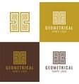 geometrical shape logo and icon vector image