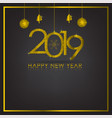 gold and black background with snowflake and ball vector image vector image