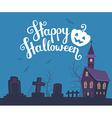 halloween of haunted house cemetery bats o vector image