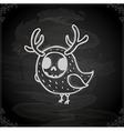 Hand Drawn Skeleton Bird vector image vector image