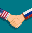 handshake of two president policy between the usa vector image