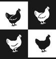 hen icon set vector image