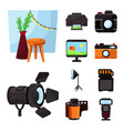 isolated object studio and photo sign vector image vector image
