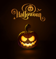 Jack o Lantern Dark Scary Smile vector image vector image