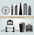 london v2 landmarks vector image