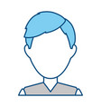 man faceless profile vector image vector image