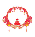 Mid-Autumn Festival for Chinese New Year frame vector image vector image