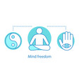 mind freedom concept icon vector image