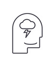 mind processmale head line icon sig vector image