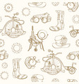 monochrome seamless pattern with steampunk vector image