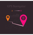 navigator vector image