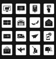 poste service icons set squares vector image
